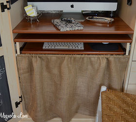 my decorated and organized computer armoire workstation craft rooms home office organizing