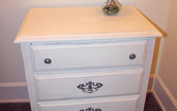 girly nightstand makeover with chalk paint, chalk paint, painted furniture