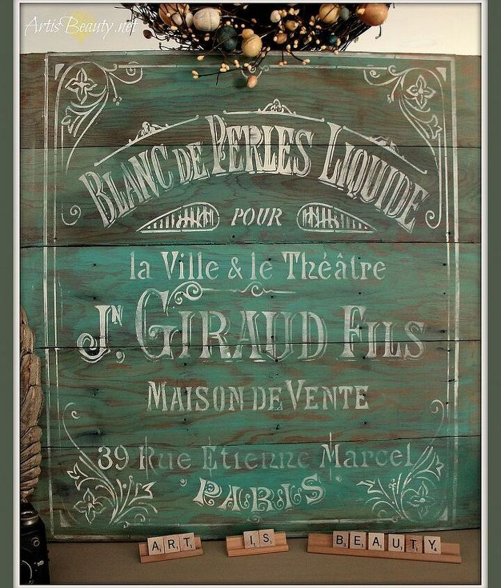 If I hadn't kept the dresser I just did I would have for sure been keeping this sign. :)  http://arttisbeauty.blogspot.com/2014/02/oui-oui-rescued-dresser-turned-french.html