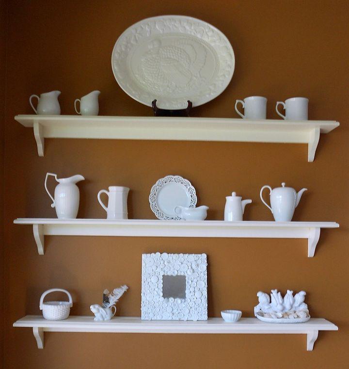 white button ikea malma, crafts, home decor, shelving ideas, wall decor, White China Display