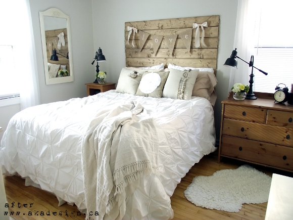 Reclaimed Wood Look Headboard Bedroom Ideas Woodworking Projects
