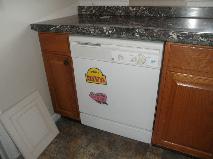 old  look with old dish washer