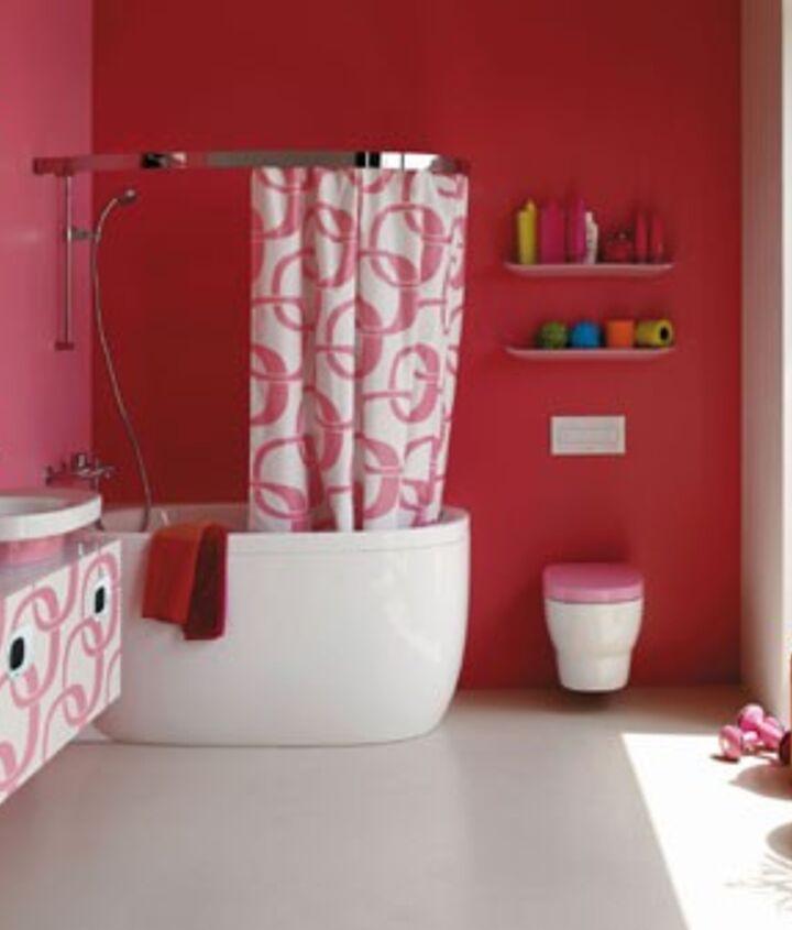 go pink, bathroom ideas, home decor
