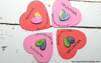 Glitter crayon heart Valentines Day Cards