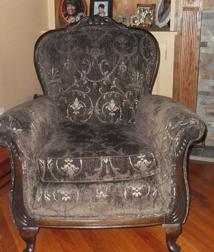 A steal for $20.00 and professionally re-upholstered.