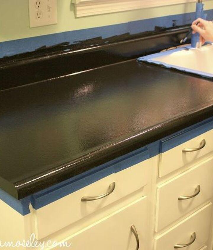 redone countertops with giani granite countertops paint, countertops, painting