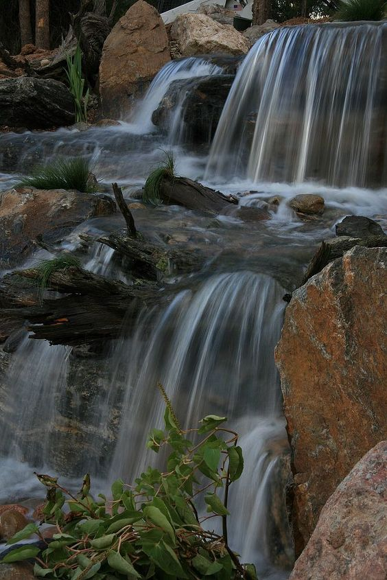 Rocky Mountain WaterScape takes great pride in placing rocks so the water flows over them perfectly