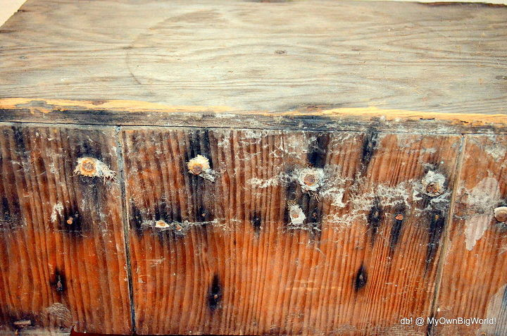 rustic old wood bench conundrum, painted furniture, repurposing upcycling, rustic furniture, shabby chic, woodworking projects, And those nails