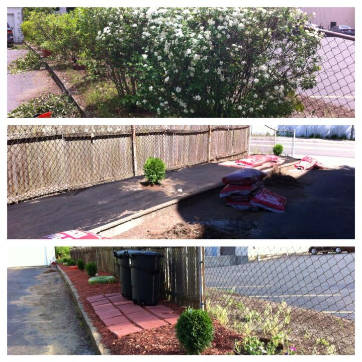 A before, during and after shot of our curb appeal project =)