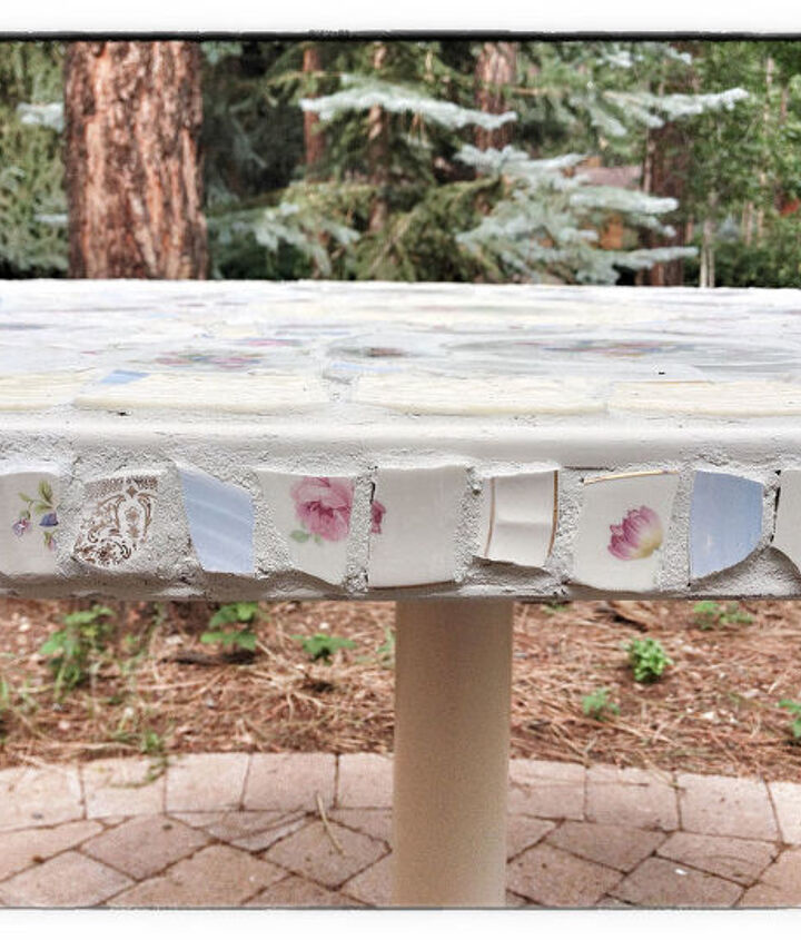 Side View of Mosaic Table