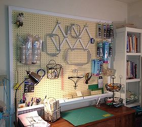 Sewing Room Peg Board Storage, Craft Rooms, Storage Ideas