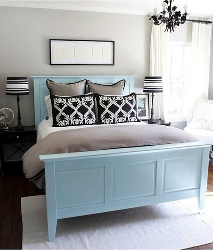If you have gray walls with white trim then the addition of 'Breath of Fresh Air' Sky blue is perfect to lift it.