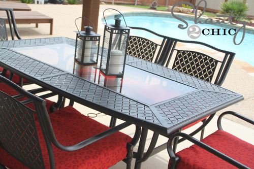 diy patio set makeover, outdoor furniture, outdoor living, painted furniture, patio