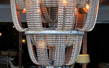 bike chain chandeliers, lighting, repurposing upcycling