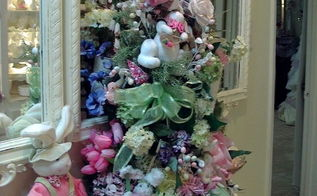 romantic easter tree, easter decorations, seasonal holiday d cor, I have put an Easter tree in the hallway