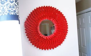 diy plastic spoon mirror, crafts, home decor