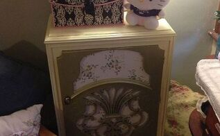 old radio cabinet turned into bedroom storage, painted furniture, repurposing upcycling, Radio Cabinet Re Do