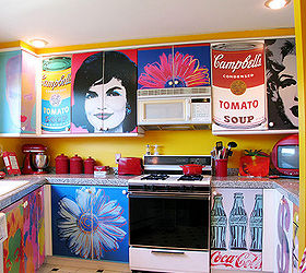 decoupage kitchen cabinets with andy warhol posters home decor kitchen cabinets kitchen design  sc 1 st  Hometalk : decoupage kitchen cabinets - Cheerinfomania.Com