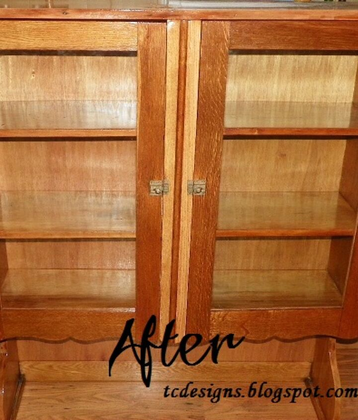 Lot's of Hard work and maybe a few harsh words but Cabinet came out beautiful and The 90 Year old Lady Loves it♥ so it was all worth it..=)