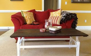 coffee table transformation, painted furniture, shabby chic, After