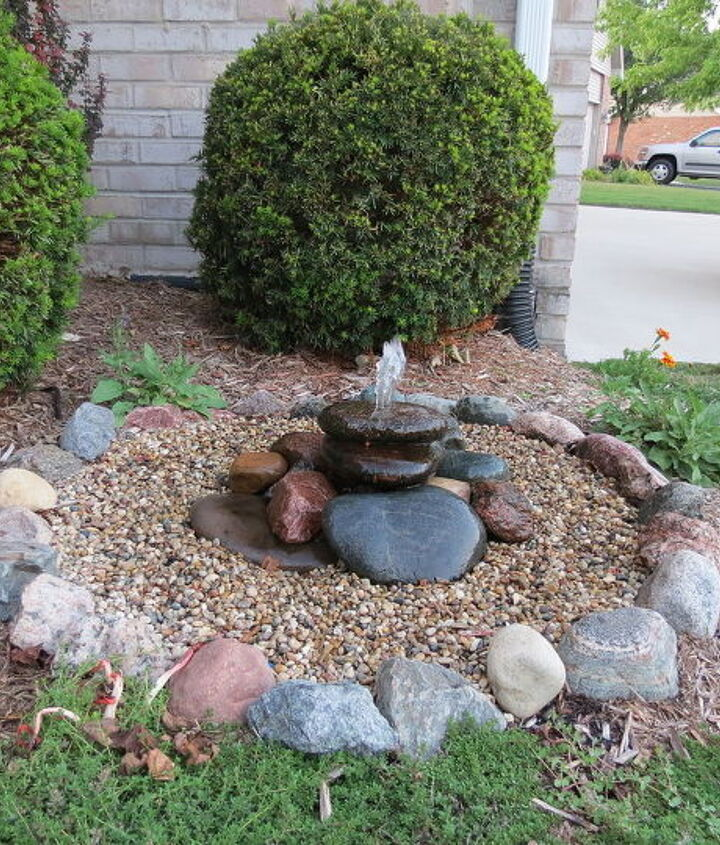 Fountain after fixing leak and increasing flow.