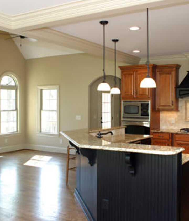 This new construction home by Triad Homes has a fantastic keeping room off the open kitchen! http://blog.akatlanta.com/2012/11/kitchen-fireplaces-keeping-rooms.html