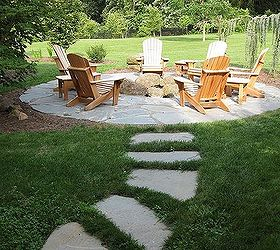 Beautiful Natural Flagstone Patio Amp Fire Pit, Outdoor Living, Patio, Flagstone  Pathway Leading To
