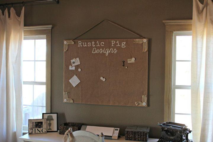 Burlap Bulletin Board for Office
