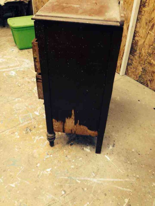 scary dresser revived, chalk paint, painted furniture