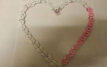 button heart frame, crafts, seasonal holiday decor, Button Heart Frame