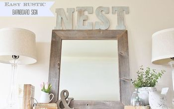 Easy Rustic Barnboard Sign & Simple Touches of Spring