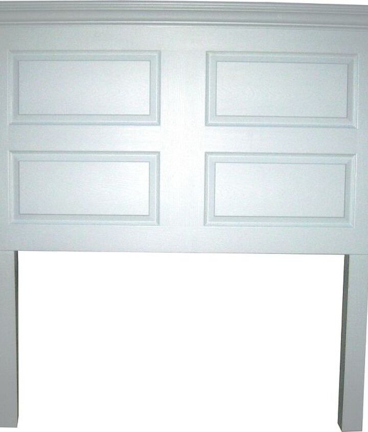 4 panel door made to fit a queen size bed - painted satin Ionic Sky (light blue).