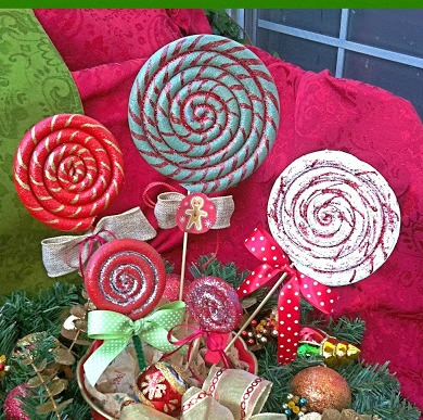 christmas lollipop ornaments christmas decorations crafts seasonal holiday decor i used poly - Lollipop Christmas Decorations