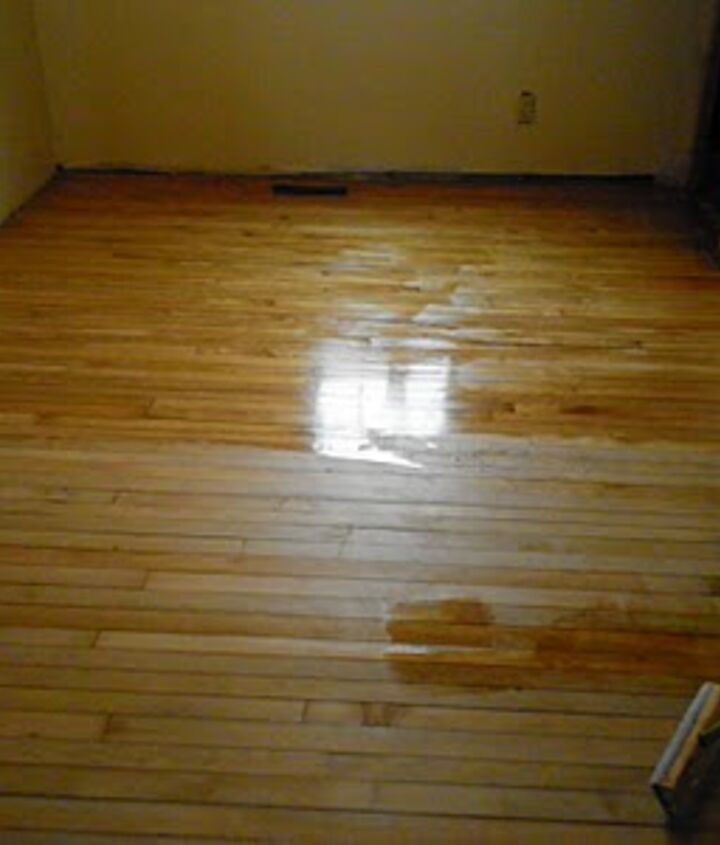 We decided to forgo stain and let the wood and its beautiful grain do the talking