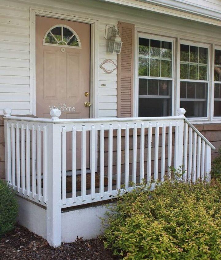 All railings crisp & white!