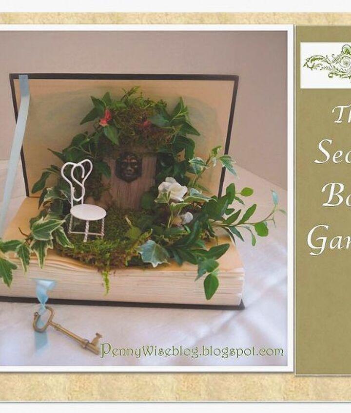 mini garden in a book, crafts, home decor