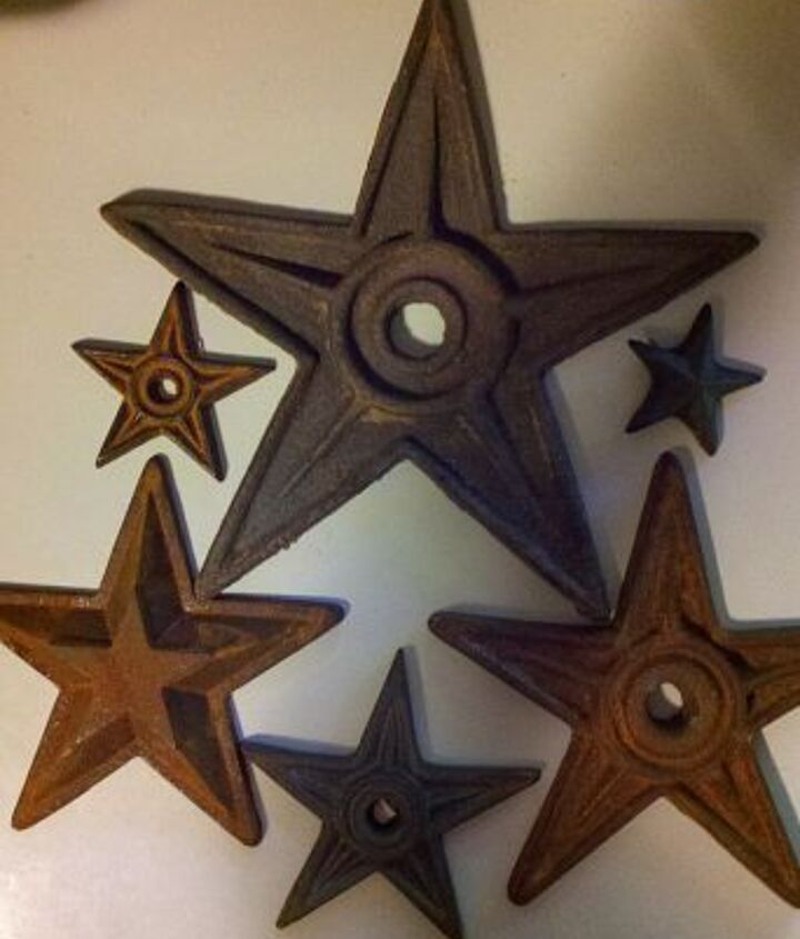 q what to do with vintage masonry stars, home decor
