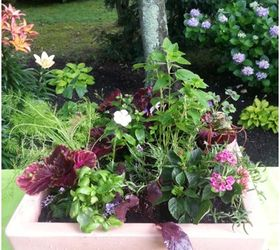 A Vegetable And Herb Planter Pretty Enough For The Front Door, Container  Gardening, Flowers