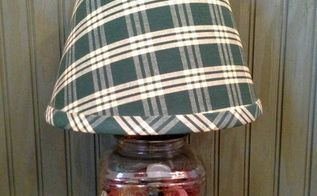 make diy mason jar lamps fun way to upcycle jars of buttons and more, crafts, lighting, mason jars, repurposing upcycling, My jar of buttons after lamp kit and shade were added