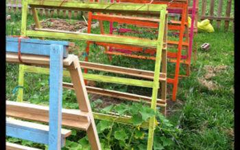 Fun, Funky, Free Garden Trellis & Tomato Cage