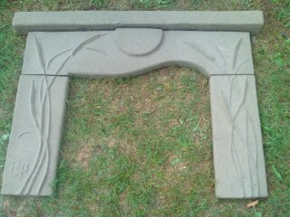 Finished Cattail Concrete Sand-Cast Mantel
