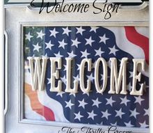 how to make a thrifty and fun welcome sign, crafts, repurposing upcycling