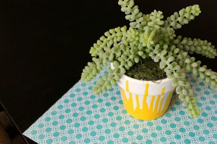 See more pics and the step by step at: http://www.myclevernest.com/2012/04/diy-drip-painted-pottery.html <3 Alyssa