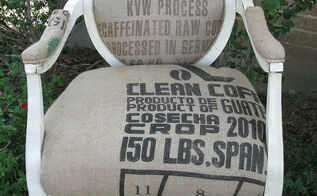 a diy french grain sack chair, painted furniture, rustic furniture