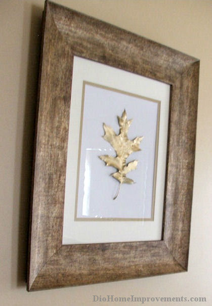 gold painted leaves, crafts, painting, Red Oak Leaf