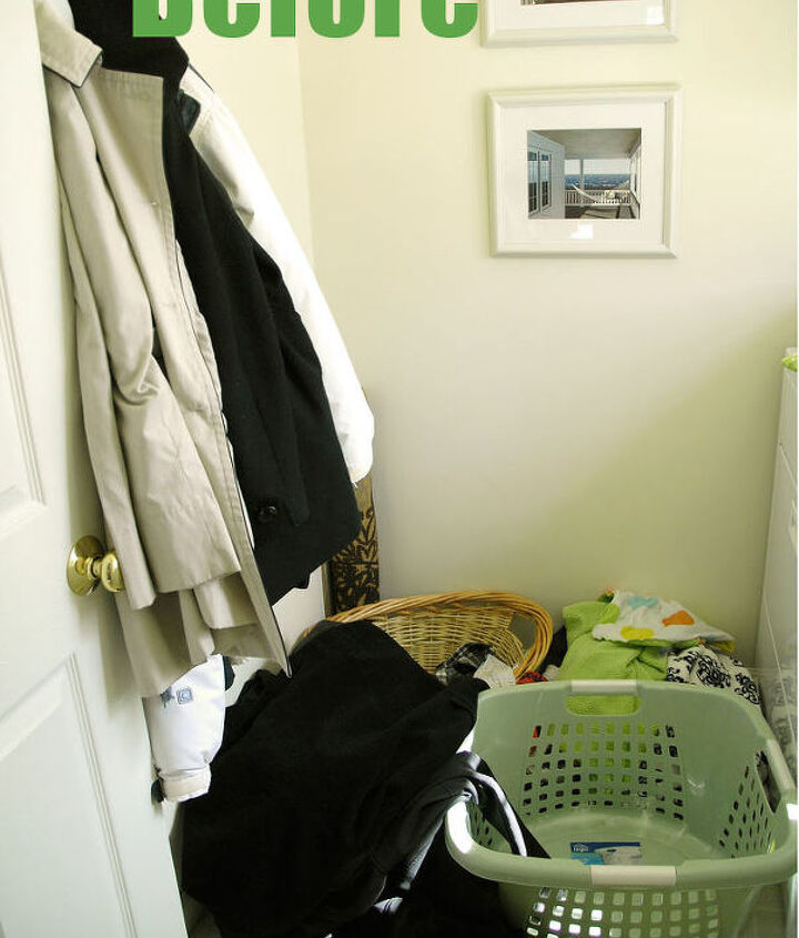 Here's a look at the before of the laundry room. Be sure to click on the post link for a full view of all the photos in this scary space. #SpringCleaningChallenge