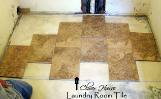 part 1 of our laundry room remodel, flooring, home improvement, laundry rooms, tile flooring, tiling, Our tiles are 12 x 18 and BEAUTIFUL