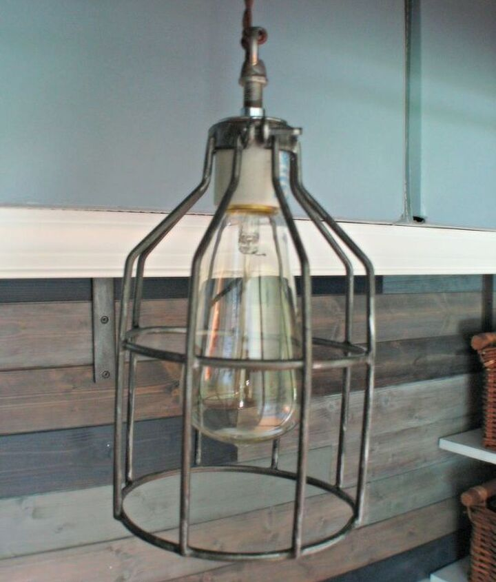 DIY Cage light pendant