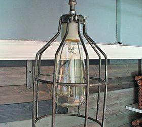 restoration hardware inspired industrial pendant light lighting diy cage light pendant