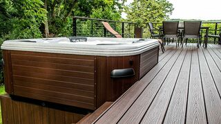 q new deck, decks, This is a Trex Transend deck It is a capped composite deck which is scratch stain and fade resistant This is ultra low maintenance